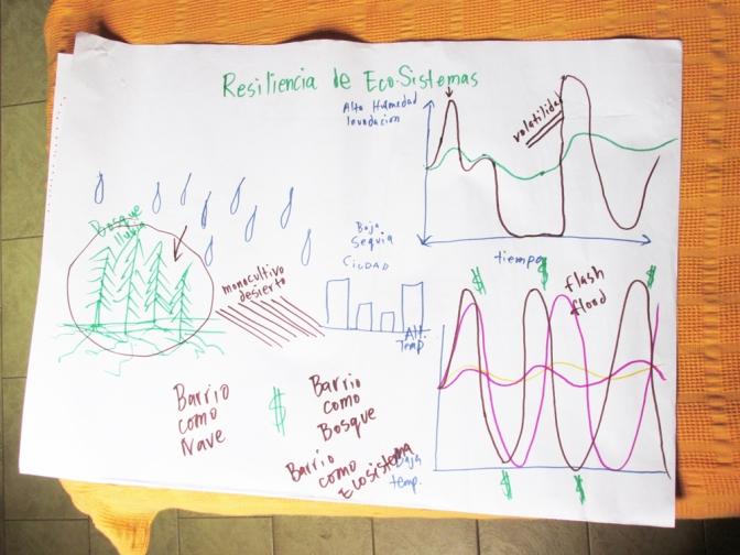 Dibujos del Primer Taller de Permacultura Urbana en Casona Dadá