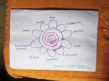 """Una version de """"La Flor de la Permacultura"""" por el permacultor norteamericano Toby Hemenway."""
