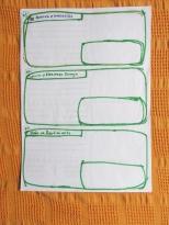 Formularios blancos para analizar proyectos y actividades según las 3 éticas y 12 principios de la Permacultura. 2 de 5.