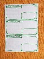 Formularios blancos para analizar y proyecto según las 3 eticas y 12 principios de la Permacultura. 3 de 5.