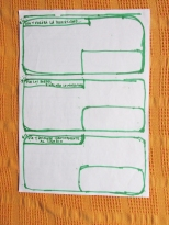 Formularios blancos para analizar proyectos y actividades según las 3 éticas y 12 principios de la Permacultura. 5 de 5.