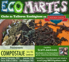 eco martes compostaje web flyer