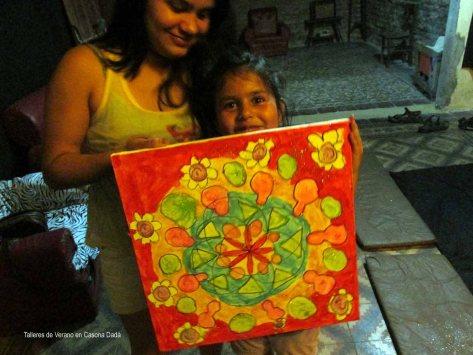 Taller de Mandala y Yoga para Niños: Una jovena artista muestra su obra alucinante!