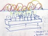 Macetero de palet con estudio energetico basado en los ciclos paralelos de un policultivo