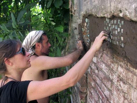 taller de mosaicos con revoque de barro octubre 12 2014 - casona dada - 33 - small